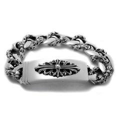 クロムハーツ【ChromeHearts】ID フローラル クロス ファンシー チェーン ブレスレット Chrome Hearts Ring, Dream Ring, Heart Bracelet, Bracelets For Men, Rings For Men, Jewelry Design, Wedding Rings, Engagement Rings, Jewels