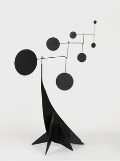 Performing Seal, 1950, by Alexander Calder. Sheet metal, steel wire and color.