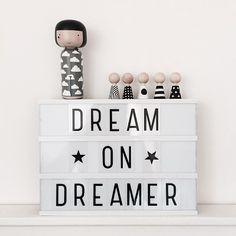 textboard   dream on dreamer   white