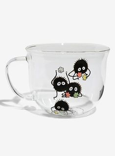 Brighten up your kitchen or office with this cute soot sprite glass mug! Inspired by the little fuzzy dust bunnies and their star-shaped treats seen in My Neighbor Totoro and Spirited Away. It's a beverage-lover essential for any Studio Ghibli fan. Totoro Merchandise, Anime Merchandise, Diy Anime, Anime Art, Spirited Away Soot Sprites, Spirited Away Art, Spirited Away Wallpaper, Studio Ghibli Spirited Away, Studio Ghibli Art