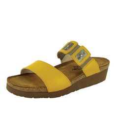 Look at this #zulilyfind! Sunshine & Pewter Emma Leather Sandal by NAOT #zulilyfinds