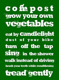 A green guide.