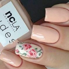 Light pink rose nails