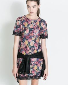 $50 FLORAL DRESS WITH LACE DETAILING from Zara