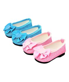 Take a look at this Two-Pair Pink & Teal Glitter Dress Shoes Set for 18'' Doll today!