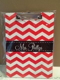 chevron, teacher gifts, back to school, personalized clipboard, lattice & ivy