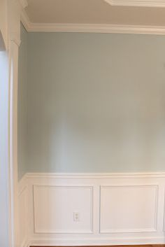 Wall colors and trim for master bedroom.