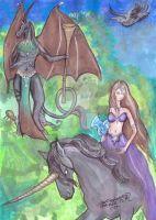 Atarn and Tariel by pegacorna2
