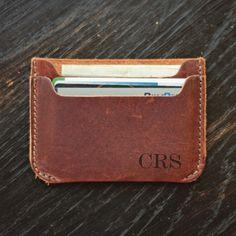 Two Pocket Wallet w/Single Initial Monogram