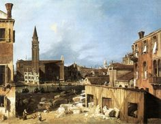 Giovanni Antonio Canal, il Canaletto - The Stonemason's Yard