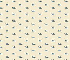 Vintage Birds fabric by rikkib on Spoonflower - custom fabric