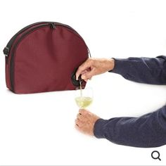 Bag O' Wine Insulated Carrier - Although box wine already comes in a handy, sturdy carrying case called a BOX, sometimes it rains and all you're left with is a soggy box. Or sometimes you just need to conceal your wine in a bowling bag carrying case so you can get through the festival gates without getting your precious liquid of the gods  snatched by the evil festival guards. Either way, I support convenience. #happyholidays #boozepurse