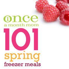 101 Spring Freezer Meal recipes !  #spring #recipes #freezermeals