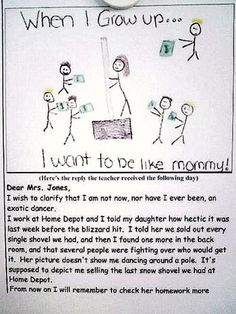 Oh this is too good! Read the mother's response!