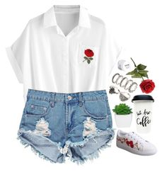 Rosegal 2.65 by emilypondng on Polyvore featuring polyvore, fashion, style, Boohoo, NYX, clothing and rosegal