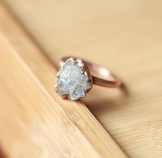 Raw Crystal Ring Celestite Ring Raw Stone от AmandaLeilaniDesigns, $50.00