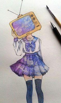 ideas for pop art girl illustration colour Art And Illustration, Cartoon Kunst, Anime Kunst, Anime Art, Kunst Inspo, Art Inspo, Pretty Art, Cute Art, Art Pastel