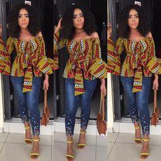 Latest Ankara Tops for ladies version) - Esther Adeniyi African Fashion Designers, African Inspired Fashion, African Print Fashion, Africa Fashion, Ankara Tops, Ankara Blouse, African Print Dresses, African Fashion Dresses, African Dress