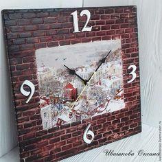 Купить Часы из серии Мой любимый город - комбинированный, владивосток, художники осиповы, золотой мост