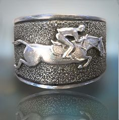 Jumper Horse cuff bracelet by HorseLadyGifts on Etsy