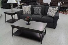 Bon Grayish Blue Sofa