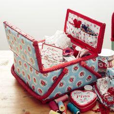 Knitting, Sewing & Crafts | Lattice Rose Twin Lidded Sewing Basket | CathKidston