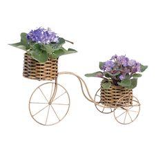 Bicicleta Junco Enfeite Decorativo. Decore seu jardim com requinte e muito bom gosto.