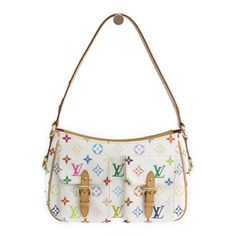 8a9cd16966d9 Louis Vuitton Monogram Multicolore Lodge PM M40053 Women s Shoulder Bag  Blanc