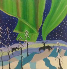 Aurora, 80x80 cm, acrylic on canvas, December 2015