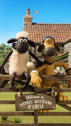 Shaun the Sheep iPhone Wallpaper Looney Tunes Cartoons, Adult Cartoons, Stop Motion, Cartoon Wallpaper, Iphone Wallpaper, Shaun The Sheep Cake, Sheep Cartoon, Timmy Time, Sheep Art