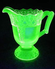 Vaseline glass is radioactive it is beautiful but don't drink anything out of it! Umm, no thanks...