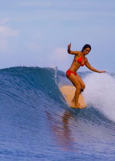 Kassia doing her thing. #surf #stoke Photo: Russo
