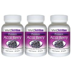 PREMIUM ACAI (3 Bottles) - High Potency, Pure Acai Berry Supplement. The All-Natural Diet, Weight Loss, Colon Cleanse, Detox, Antioxidant Superfood Product. (Health and Beauty)  http://www.amazon.com/dp/B005ITOU54/?tag=hfp09-20  B005ITOU54