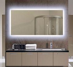 Backlit Illuminated Mirror Size H55 X W28 D2 Inches This