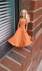 Ravelry: Free Barbie Gown pattern by Abigail Forrest