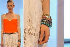 Racheal Roy fashion week 2013 arm candy