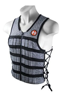 Hyperwear Hyper Vest PRO Unisex 10-Pound Adjustable Weighted Vest for Fitness Workouts, Small, Grey