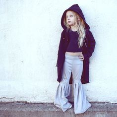 Hooded coat by @mimobee  Cropped pinafore by @junebugtennessee