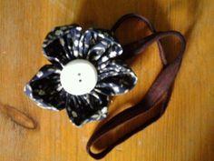 dark blue flower- headband