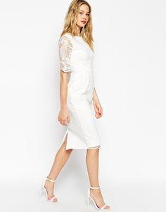 ASOS Wiggle Dress with Lace Overlay. De Asos