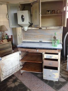 Tops Of Hoosier Cabinets For A Laundry Room