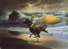 Artist: Frank Frazetta (I seen the original at the Florida museum, it is my daughters favorite