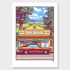 Beautiful Sunday Art Print by Ross Murray