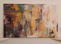 Mia Marsh Mia Marsh painting art work gold red modern absrtact