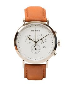 Bering White Analog Watch in India. Deals and discount coupons for Branded watches. Leather Strap material : Leather Gender : Men Display : Analog-Chronograph Dial Shape : Round Wearability : Formal Warranty : 1 Year