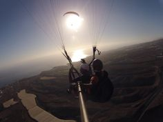 Paragliding Tenerfly Paragliding, Tandem, Celestial, Sunset, Outdoor, Fingers, Sunsets, Outdoors, The Great Outdoors