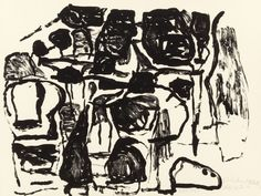 Fine Art - Work on Paper:Print, PHILIP GUSTON (American, 1913-1980). Untitled, 1963.Lithograph on Rives BFK paper. 25-1/4 x 33-1/2 inches (64.1 x 85.1... Image #1