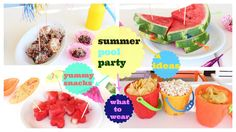 Summer Pool Party snacks,outfit,decoration,clever ideas - YouTube