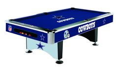 Cowboys pool table.  If my boyfriend sees this it will be sitting in my garage very soon.