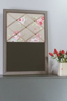 chalk floral memo board by pins and ribbons | notonthehighstreet.com